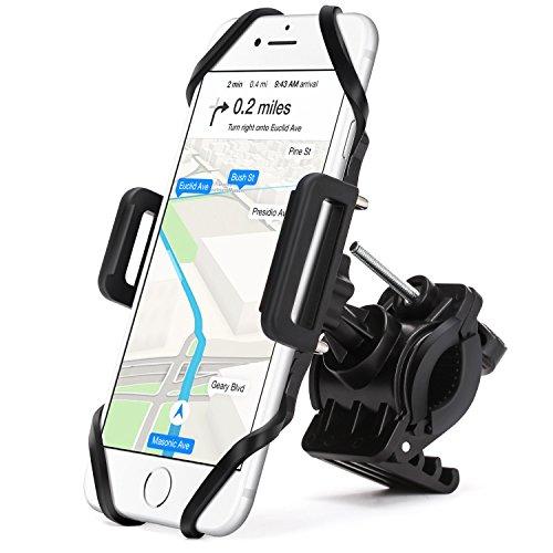 SOCU Universal Handyhalterung Fahrrad Smartphone Handyhalter Fahrrad Verstellbar für iPhone X/8/6 Plus 7/7Plus 6S/6 Galaxy S8/S7/S7 Mit 360 Drehen Für 3,5-6,1 Zoll Smartphone GPS Andere Geräte (Plus Haltung)