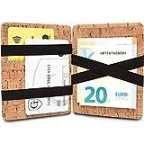 GenTo Magic Wallet Vegas - TÜV geprüfter RFID, NFC Schutz - Dünne Geldbörse mit Münzfach - Geschenk für Damen und Herren mit Geschenkbox - erhältlich in 8 Farben | Design Germany (Hellbraun Kork)