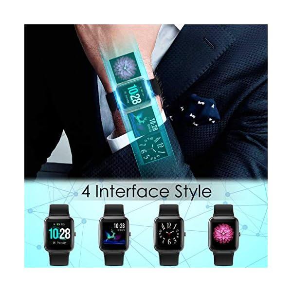 CHEREEKI Smartwatch Reloj Inteligente, Impermeable IP68 Pulsera Actividad con Ritmo Cardíaco, Reloj de Fitness con… 8