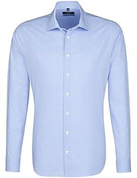 SEIDENSTICKER Herren Hemd Tailored 1/1-Arm Bügelleicht Karo City-Hemd Kent-Kragen Kombimanschette weitenverstellbar
