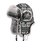 Zxcvb per Cappello Rapper da Uomo e Donna con Faux Fur e paraorecchie -  Ushanka Aviator 6d11deed0589