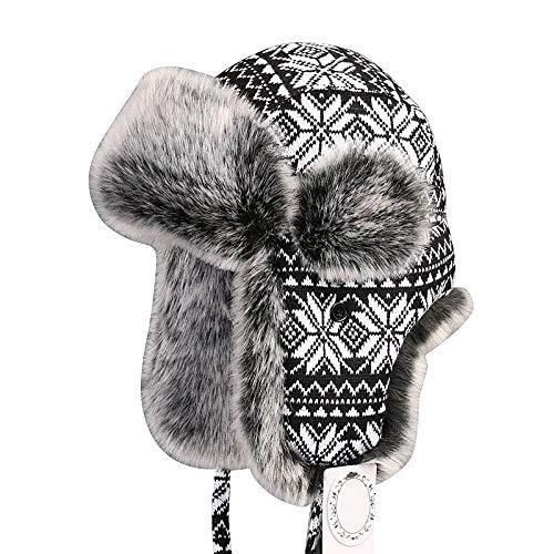 Zxcvb Se Adapta a los Hombres y Mujeres Rapero Hat con Piel sintética y  Orejeras - 991d3c14025