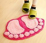 Best YOKIRIN Men Slippers - Carpet - YOKIRIN Foot Shape Floor Mats Anti-skid Review