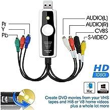 DigitNow! Digital High-Definition / Ypbpr (1080I) VCAP800 VHS & Camcorder USB Video Capture Kit für MAC OSX & Windows-Kopie, Konvertieren, Transfer VHS, S-VHS, VHS-C, Hi8, Digital8, Video8, Mini-DV Video auf DVD , USB-Speicher oder Video hochgeladenes Video ins Internet laden.