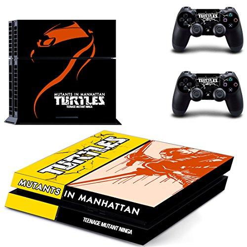 Playstation 4 + 2 Controller Aufkleber Schutzfolie Set - Teenage Mutant Ninja Turtles: Mutanten in Manhattan (2) /PS4 (Playstation 4 Ninja Turtle)