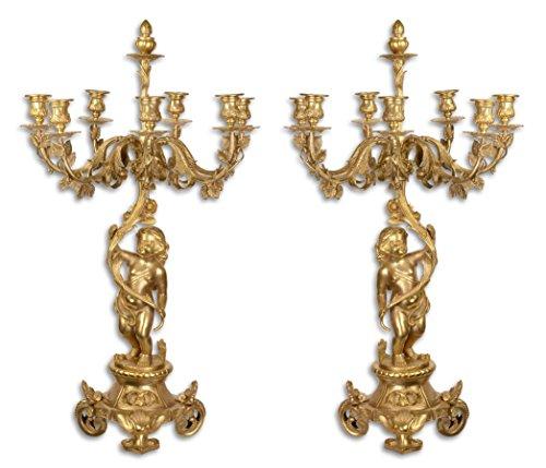 Casa-Padrino Juego de Candelabro Barroco Oro 46 x 46 x H. 83 cm - Elegante y Suntuoso