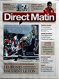 DIRECT MATIN [No 753] du 15/10/2010 - LE GENIE BRUT DE BASQUIAT AU MUSEE D'ART MODERNE - L'IRAN AUX PORTES D'ISRAEL - MAHMOUD AHMADINEJAD EN VISITE AU LIBAN - MINEURS CHILIENS / QUE VONT DEVENIR LES 33 - MARINE NATIONALE / FAUX DEPART POUR LE PORTE-AVIONS CHARLES-DE-GAULLE - LES JEUNES HAUSSENT LE TON / REFORME DES RETRAITES - SALLES DE SHOOT / LA CAPITALE SE DIT PRETE A TESTER LE DISPOSITIF...