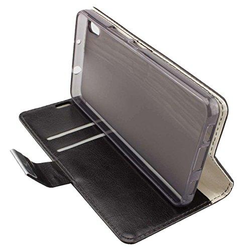 caseroxx Bookstyle-Case & Bildschirmschutzfolie für Medion Life S5504 MD 99905, Set (Bookstyle-Case in schwarz)