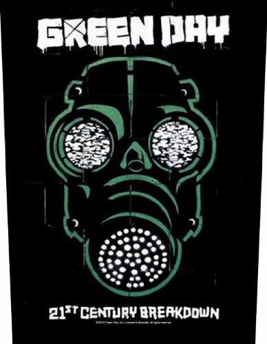 GREEN DAY - Gas Mask - Rückenaufnäher / (Gas Green Mask)