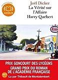 La vérité sur l'affaire Harry Quebert - Livre audio 2 CD MP3 - 650 Mo + 530 Mo de Joël Dicker (2013)