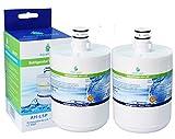 2x AH-L5P compatible pour filtre à eau LG LT500P, 5231JA2002A, GEN11042FR-08, ADQ72910901, Premium filtre à eau de réfrigérateur