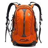 Reisen Sport Rucksack Männer und Frauen Reiten Wanderrucksack Nylon Wasserdicht Outdoor Rucksack 30L,Orange