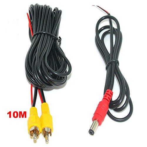 Auto Wayfeng WF® 10 Meter RCA Video Kabel mit Stromleitung für Auto Parkplatz Rückansicht Rückansicht Kamera Connect Car Monitor DVD Trigger Kabel