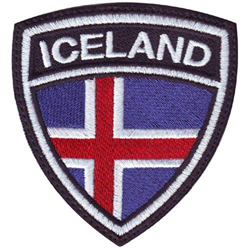 MAREL Parche Flag Bandera Islandia Island