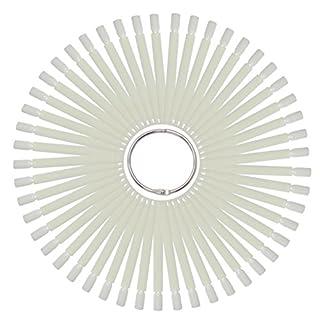 Tipfächer natur mit 50 Präsentations Stäbchen (Tip-Stäbchen) und praktischem Metall Ring zum öffnen