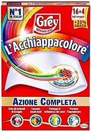 Grey L'Acchiappacolore Fogli Cattura Colore Lavatrice Evita Incidenti Lavaggio, Foglietti Acchiappacolore