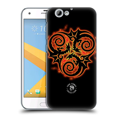 Official Anne Stokes Triple Dragon Fire Tribal Hard Back Case for HTC One A9s