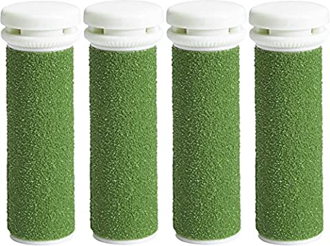 4 x Rouleaux Ponceurs Micro-Minéraux Extreme Rugueux de Remplacement Vert Pour Le Emjoi Micro-Pedi Recharge