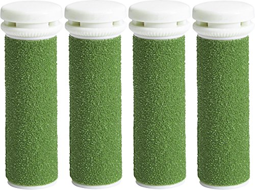 4 x EXTREME Coarse Green Replacement Rollers Compatible with Emjoi Micro Pedi