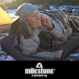 Milestone Camping Flocked Airbed ~ Single ~ Blue ~ 88000