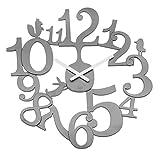 koziol Wanduhr  [pi:p],  Kunststoff, solid cool grey, 3,2 x 45 x 44,5 cm