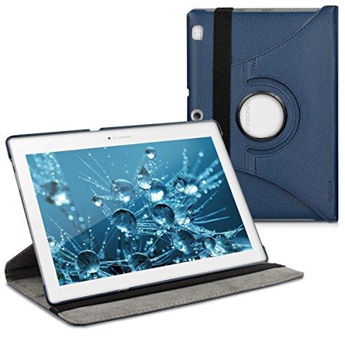 kwmobile Lenovo Tab 2 A10-70 Hülle - 360° Tablet Schutzhülle Cover Case für Lenovo Tab 2 A10-70 - Dunkelblau