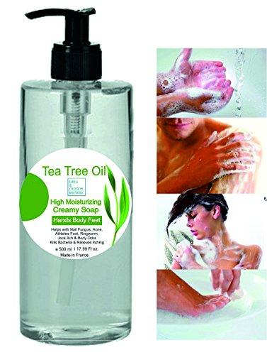 Sapone Terapeutico Tea Tree Olio (albero del tè) 500 ml - Gel Doccia Azione antimicotica-antibatterica Shampoo Pidocchi bambini Sapone Anti Acne
