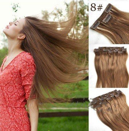 Clip Extension de cheveux Extensions de cheveux pour une totale – Haute Qualité Remy de cheveux – 60 cm