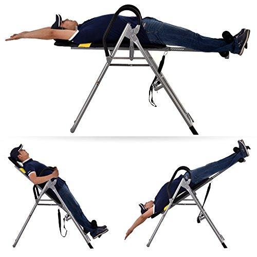 Imposes Sportgeräte Inversions-Schwerkrafttrainer Fitnessgeräte Faltbar Medicals Ergonomischer Rückentrainer Gym Büro Hometrainer mit Perfect-Balance System 108 x 63 x 111 cm (EU Lager)