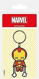 Marvel - Comics goma llavero de Kawaii Iron Man 6 cm Pirámide Internacional