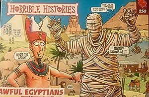 Paul Lamond PLG 7255 Horrible Histories - Puzzle (250 Piezas), diseño de egipcios, Color Rojo