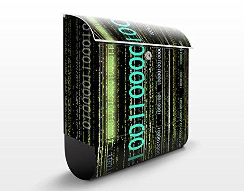 Design Briefkasten Dematrix | Matrix Informatik Computer Telefon, Postkasten mit Zeitungsrolle, Wandbriefkasten, Mailbox, Letterbox, Briefkastenanlage, Dekorfolie