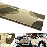 QEUhang 2 PCS Camouflage Autofolie Sticker Tarnfolie 152 X 30CM Selbstklebend Car Wrapping Auto Folie (Desert Camouflage)