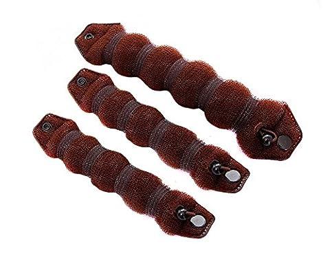 3 Braun Magic Hair Styling Styler Twist Ring Ehemalige Shaper Donuts Nadel Bun Maker Clip Haar Ring Styler Maker Werkzeug (1 groß + 2