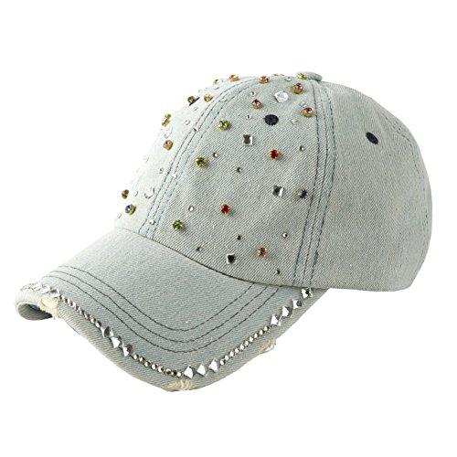 Rhinestone cowboy chapeaux/Chapeaux de dames/Dames de denim été coréen Cap A