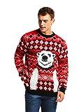 Eisbär Weihnachtspullover für Damen Herren Weihnachtsparty