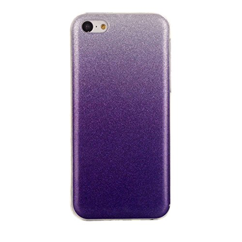 MOONCASE Ultra-thin TPU Silicone Housse Coque Etui Gel Case Cover Pour iPhone 5C Argenté Voilet