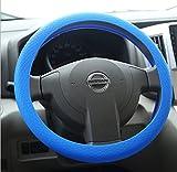 Coprivolante per Auto in Silicone Universale Diametro 34 cm Blu Questo coprivolante è la soluzione ideale per preservare e allungare la vita al volante della tua auto. Realizzato in materiale morbido con silicone di alta qualità, elastico e lavabile....