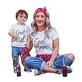 Mom & Kind Pullover, DoraMe Baby Jungen Mädchen Lange ärmel Sweatershirt Familie Kleidung LOVE Drucken Bluse Lässig O-Ausschnitt T-shirt (Kinder - Weiß, 4 Jahr)