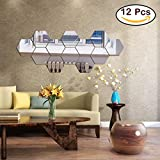 Best Decals for the Wall Mirrors - Mirror Wall Stickers, 12PCS Hexagon Mirror Art DIY Review