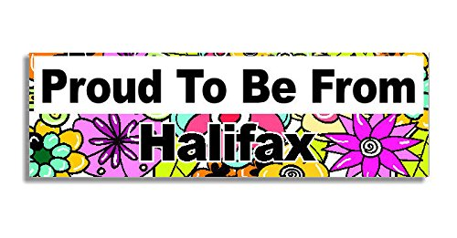 proud-to-be-from-halifax-car-sticker-sign-voiture-autocollant-decal-bumper-sign-5-colours-flowers