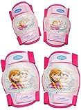 alles-meine.de GmbH 4 TLG. Set:  Disney Frozen - die Eiskönigin  - Knieschützer + Ellenbogenschützer - für Circa 5 bis 12 Jahre - für Kinder - Gelenkschützer Knieschoner rosa p..