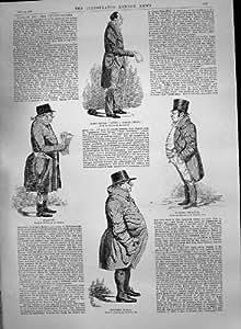 Old Original Antique Victorian Print 1890 Lloyd'S Underwriters Thornton Dewar Pulsford Bovill Doorkeep 467P197