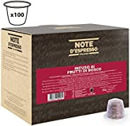 Note d'Espresso Red forest fruit infusion Capsules 3g x 100 Capsules Exclusively Compatible with Nespresso* machines