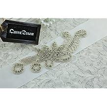 SoarDream cinturón de boda Sash Novia Cinturón Sash vestido de novia cinturón faja cinturón y brillantes decorativos boda Liga hecho a mano accesorio