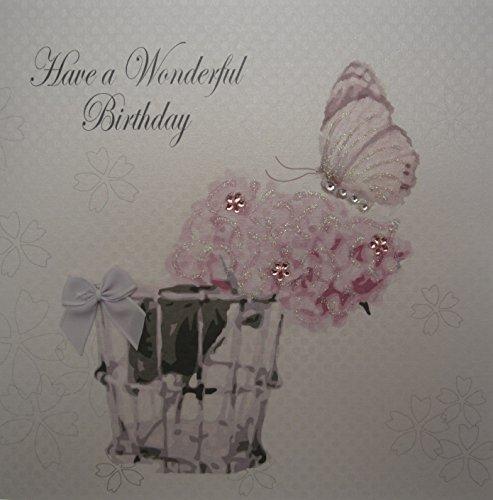WHITE COTTON CARDS D 441.96 cm haben A Wonderful Birthday, handgefertigt, Weiß Bliss Stiletto Heel