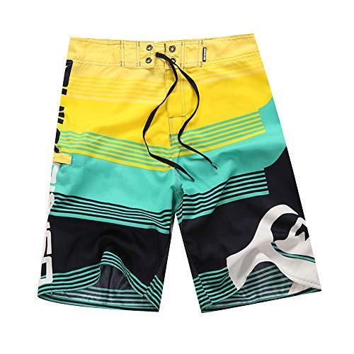 Aiserkly Herrenmode Druck Patchwork Strand Surfen Schwimmen Baggy Beiläufige Kurze Straight Tapered Hose - Herren Rs Fahrrad Short