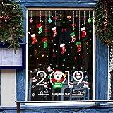 ZBYLL Weihnachten Fenster Aufkleber Sticker An Der Wand Hängenden Ketten Weihnachtsbäume Schneemänner Wohnzimmer Dekoration Aufkleber 2