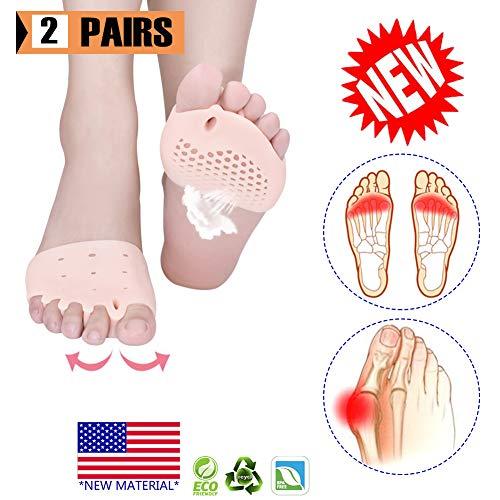 Cuscinetti metatarso, separatore dita dei piedi, separatori dita dei piedi in gel cuscino, (4 pezzi) nuovo materiale,cuscinetti dell'avampiede, ideale per piedi vesciche, dolore all'avampiede.