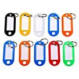 S/O® 50er Pack Schlüsselanhänger farbig sortiert Schlüsselschild Schlüsselschilder zum Beschriften Schlüssel Schild Schilder Anhänger